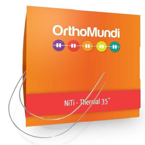 NiTi Termoativado Retangular - OrthoMundi 016 x 016 Inferior