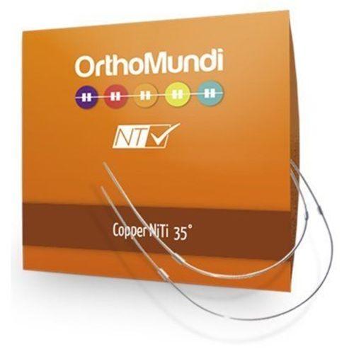 Copper NiTi Retangular - OrthoMundi 014 x 025 Superior