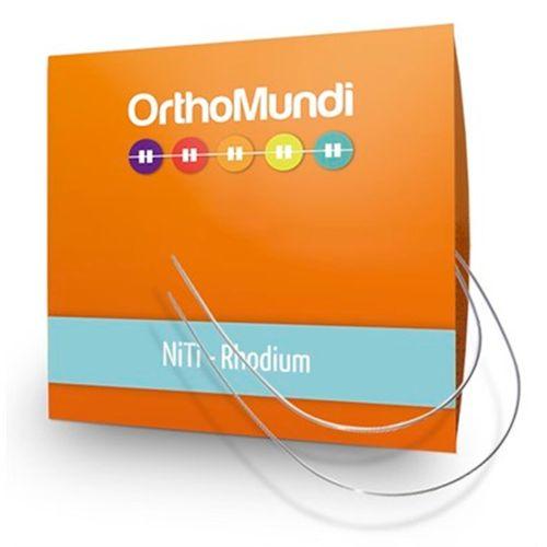 NiTi Estético Premium Rhodium Redondo - OrthoMundi 016 Superior