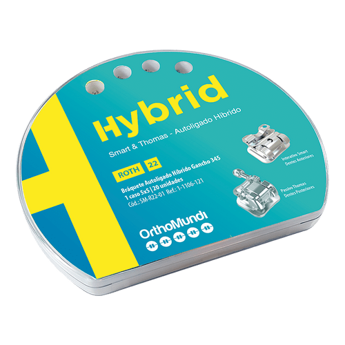 Bráquete Autoligado Hybrid Roth 022 - OrthoMundi