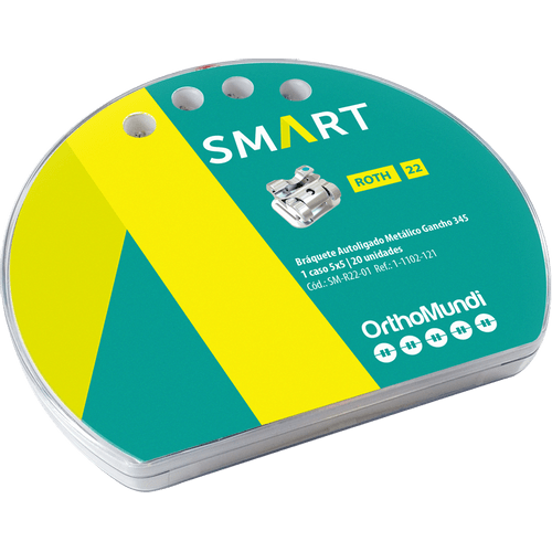 Braquete-Autoligado-Interativo-SMART-ROTH-022-Com-Gancho-OrthoMundi