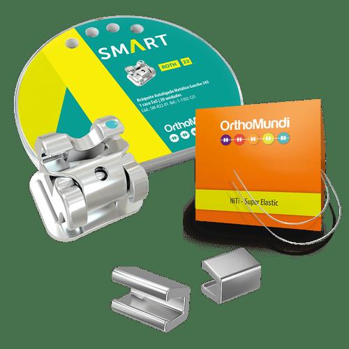 Kit-Braquete-Autoligado-Interativo-Smart-Roth---NiTi-Redondo---Stop
